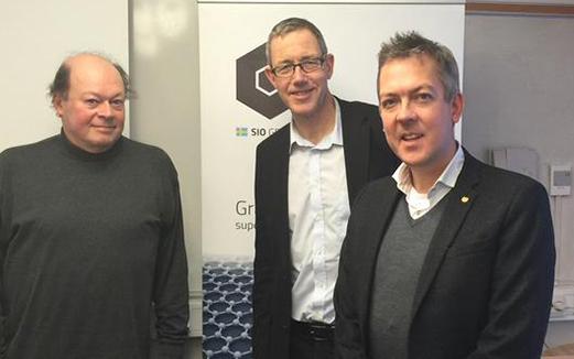 Curt Lindmark, Björn Westling och Anders Bohman på SIO Grafen Roadshow.