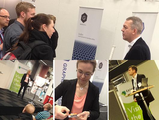 Mässan HighTech Engineering 2015 med Anders Bhoman, Helena Theander, Anna Lundgren, Fredrik Hörstedt.